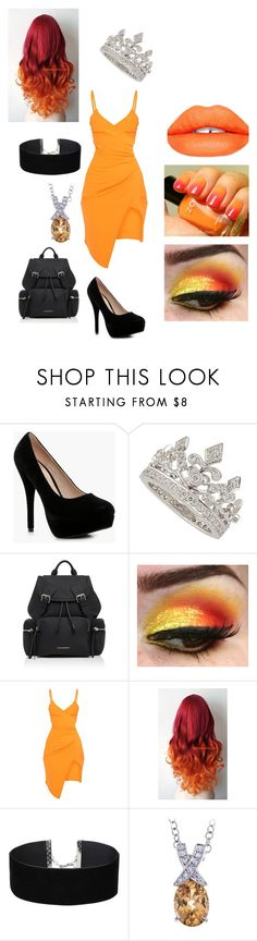 """petal pusher - Rainbow Collection"" by mychristapie on Polyvore featuring Boohoo, Garrard, Burberry, Miss Selfridge and Sugarpill"