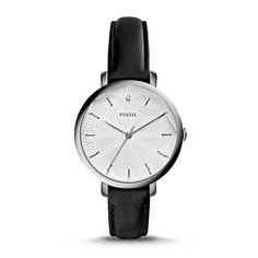 Fossil Incandesa Three-Hand Date Leather Watch – Black, ES3865| FOSSIL® Watches