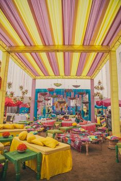 Indian Wedding ceremony design decor decorations ideas inspiration colors colorful |Stories by Joseph Radhik