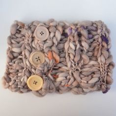 KNiT CoWL CoZY CoMFY HeAD BaND Funky Buttons by ColourMadeMeDoIt, $50.00