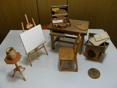 Miniature Arts. Great artist's studio pieces