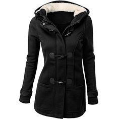 Andyshi Women Antumn Winter 2022 New Fashion Slim Double Breasted Woolen Iong Coats Blouse Black 2XL ** Check this awesome product by going to the link at the image. (This is an affiliate link)