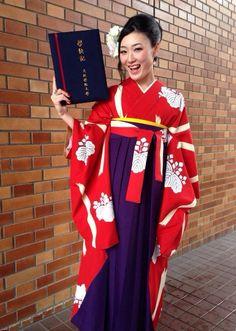 卒業式 はかま コーデ 大阪学院大学