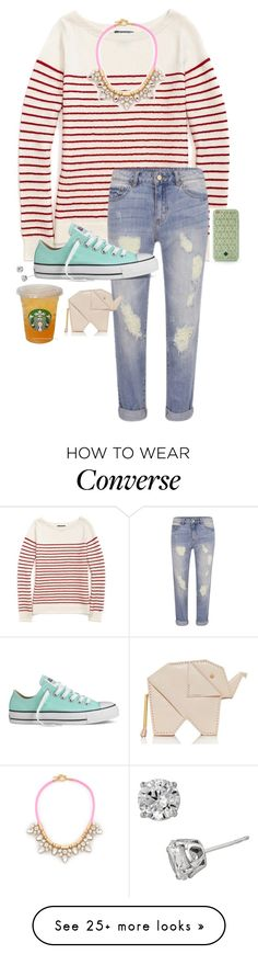 """""""Untitled #434"""" by hayley-tennis on Polyvore featuring Tommy Hilfiger, VILA, Converse, Tory Burch, Kate Spade and DiamonLuxe Crystal"""