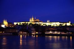 Prague Castle at night--I want to go back so badly!