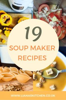 Soup season is here. If you are looking for some soup maker recipe inspiration check out my round up of 19 soup maker recipes Meat Cooking Times, Just Cooking, Cooking Kale, Cooking Light Recipes, Gourmet Recipes, Cooking Ideas, Casserole Recipes, Soup Recipes, Quick Recipes