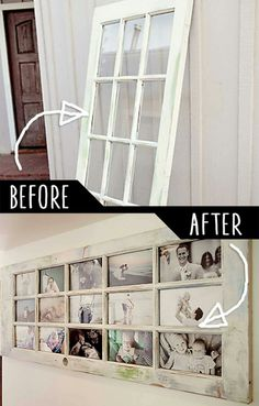 Such a lovely idea turning old door into a family life story... http://www.photogmommie.com/an-old-door-our-story