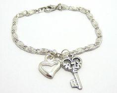 Slave Collars for Public Wear | BDSM, Silver Bracelet, Discreet Fet ish Wear, Key to My Heart Jewelry ...