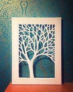 Canvas Cut Tree