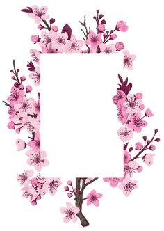 Flower Background Wallpaper, Flower Phone Wallpaper, Framed Wallpaper, Flower Backgrounds, Butterfly Wallpaper, Happy Birthday Frame, Birthday Frames, Art Floral, Vintage Floral