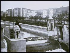 Esclusas del Río manzanares, 1928.    Museo de Historia (Madrid)
