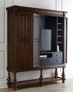Sonoma Entertainment Cabinet at Horchow. Love this for the living room - TV cabinet
