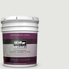 BEHR Premium Plus Ultra 5 gal. #hdc-NT-10G Wedding Cake White Eggshell Enamel Interior Paint