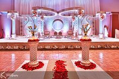 Indian wedding mandap white mandap