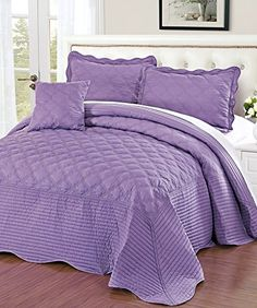#limited The fabric is 100percent #cotton, filling is 180GSM polyester. The set was prewashed to get softness, oversize makes the bedspread cover the whole bed. ...