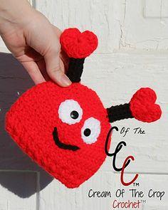 Ravelry: Preemie/Newborn Love Bug Hat pattern by Cream Of The Crop Crochet™