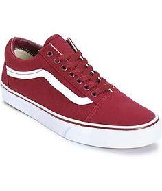 7e83ed75ecba5b Vans Old Skool Maroon Skate Shoes (Mens) Red Vans Shoes
