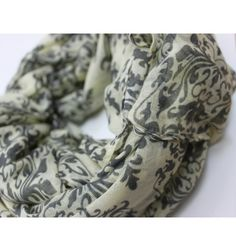 Damask Cream Scarf - The Scarves Company