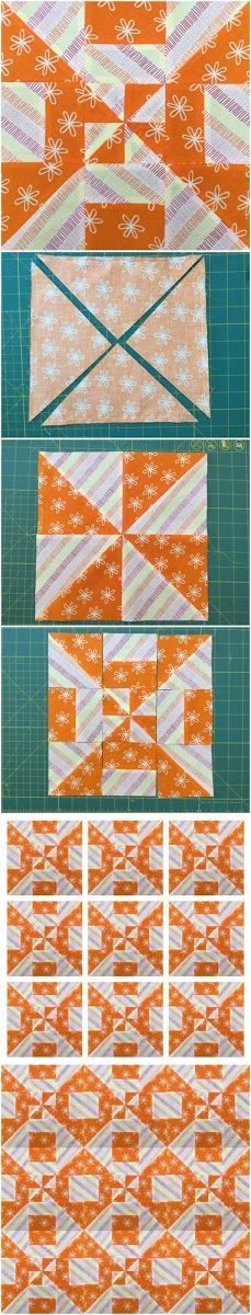 How to make a disappearing pinwheel block Learn how to make this block in less…