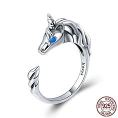 Jewelry & Accessories Inventive 2019 Fashion Unicorn Alloy Enamel Finger Ring Jewelry Wholesale For Women A Complete Range Of Specifications