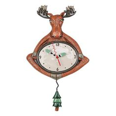 Allen Designs Augies Light Whimsical Lighthouse Pendulum Wall Clock
