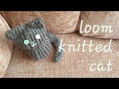 Knitting Loom Dolls, Loom Knitting Projects, Loom Knitting Patterns, Circular Knitting Needles, Knifty Knitter, Knitting Ideas, Stitch Patterns, Knitted Cat, Crochet Yarn