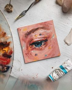 Oil painting Videos Eyes - Oil painting Landscape Sunrise - Oil painting Hands - Oil painting For Beginners Cat - Oil painting Landscape Forests Cute Canvas Paintings, Small Canvas Art, Mini Canvas Art, Art Mini Toile, Art Sur Toile, Art Inspo, Inspiration Art, Art Hoe Aesthetic, Aesthetic Painting