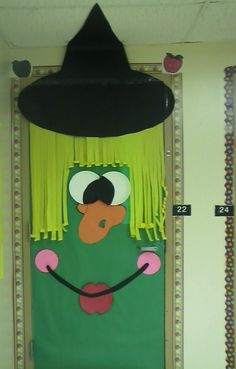 Witch classroom door idea