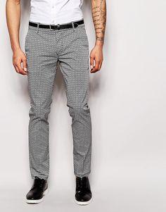 Image 1 ofAntony Morato Geo Tile Print Trousers in Super Skinny Fit