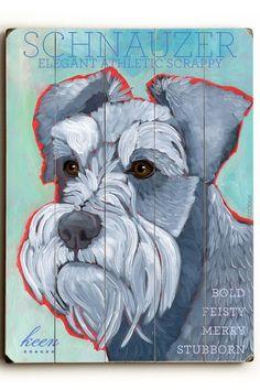 Schnauzer by Pet Art Shop on @HauteLook