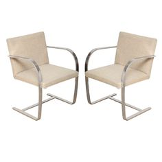 Pair of BRNO Chairs by Mies Van Der Rohe for Knoll | From a unique collection of antique and modern armchairs at https://www.1stdibs.com/furniture/seating/armchairs/