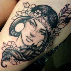 Stunning portrait tattoos for girls