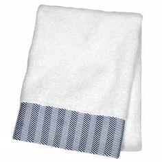 Bath Towels And Washcloths White Insignia Blue - Fieldcrest™