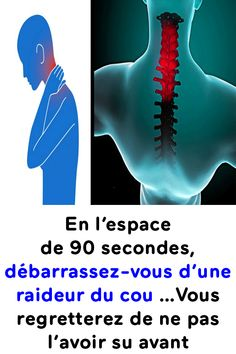 In the space of 90 seconds get rid of a stiff neck You will regret not having known it before! Health And Wellness, Health Tips, Health Care, Health Fitness, Body Is A Temple, Keep Fit, Physical Fitness, Natural Remedies, Cardio
