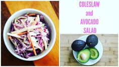 COLESLAW AND AVOCADO SALAD @pinkswanbeauty