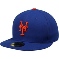 e49997fc139 Men s New York Mets New Era Royal AC On-Field 59FIFTY Game Performance  Fitted Hat