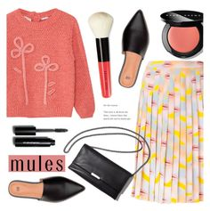 """Mules"" by alexandrazeres ❤ liked on Polyvore featuring MANGO, Prada, Loeffler Randall, Bobbi Brown Cosmetics, mules and fashionset"