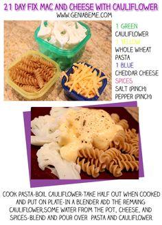 #21dayfix recipe idea! 21 Day Fix approved mac and cheese via www.geniabeme.com @geniabeme