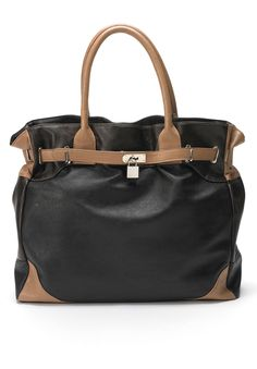 Plus Size Samantha Colorblock Tote Handbag | Plus Size Winter Accessories | Jessica London