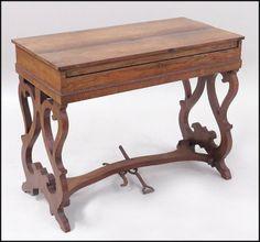 English Mahogany Melodeon : Lot 132-1025 #english #mahogany #antique