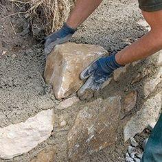 les pierres naturelles ont une épaisseur variable
