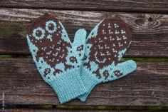 Owl Mittens #owl #mittens #gloves #woolen #snow #barn #pattern #diy #project #knit