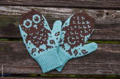 Owl Mittens #owl #mittens #gloves #woolen #snow #barn #pattern #diy #project #knit