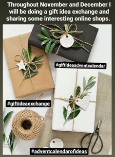 This year I will be sharing a wide variety of different online shops throughout November and December...kind of like an advent calendar of gift ideas! Hope you enjoy and comment if there's a favourite you enjoy shopping from too! #giftideaadeventcalendar Wrapping Ideas, Creative Gift Wrapping, Creative Gifts, Paper Wrapping, Elegant Gift Wrapping, Christmas Gift Sale, Christmas Gift Wrapping, Holiday Gifts, Christmas Presents