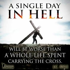 This life of pain and sorrow will all be completely worth it when I see Jesus face to Face, and finally lay my cross down at His feet, in exchange for His Comfort