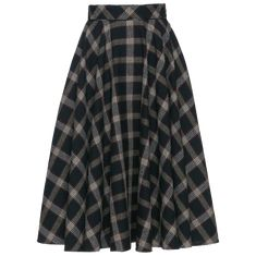 Tartan circle skirt with piping along the waistband. Featuring concealed side pockets, this full, flared linen skirt fastens at the side with a zip and button. Lined. Ribbon Skirts, Working Man, Linen Skirt, Piece Of Clothing, Flare Skirt, Tartan, Cotton, How To Wear, Men