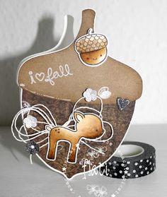 ♥ Flati s Stempelwelt ♥: Eichelkarte freebie und Stempelmekka
