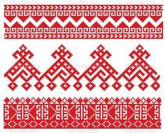 русская народная вышивка крестом схемы - Поиск в Google