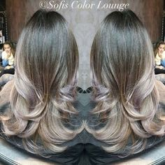 Shades of #grey with #violet tones  #greyhair #greyhairdontcare #color #popofcolor #angelofcolour #hairart #hairporn #hair #haircolor #goldwell #njbesthair #cranford #nj #sofiscolorlounge #njhairstylist @colormechristine
