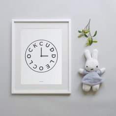 Cuddle oclock nursery print